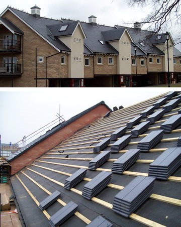 Commercial slate roofing in Yorkshire